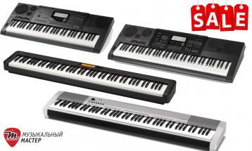 Супер цены на синтезаторы и цифровые пиано Casio