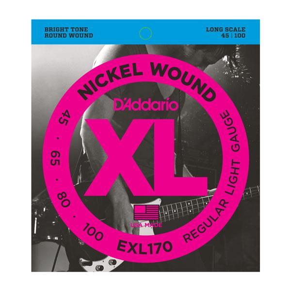 EXL170 XL REGULAR LIGHT 45-100 / Струны Для бас гитар, Музыкальный Мастер