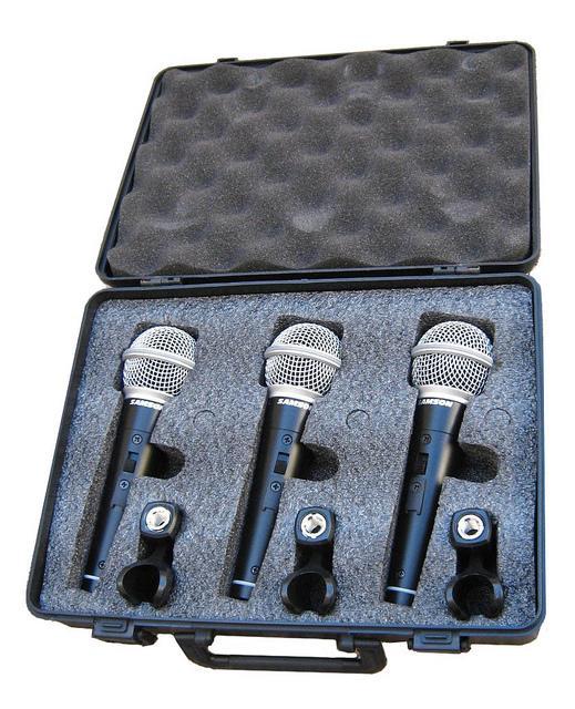 Q6 3 Pack - Комплект из 3-х динамических микрофонов / Вокальные и речевые микрофоны, Музыкальный Мастер
