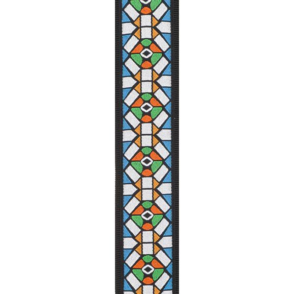 PW50E02 Woven Guitar Strap, Stained Glass / Ремни для гитар, Музыкальный Мастер