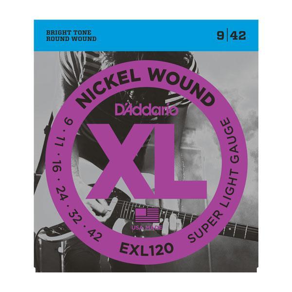 EXL120 XL SUPER LIGHT (09-42) / Струны Для электро гитар, Музыкальный Мастер