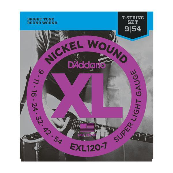 EXL120-7 XL SUPER LIGHT 7-STRING (09-54) / Струны Для электро гитар, Музыкальный Мастер
