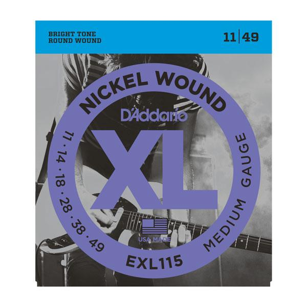 EXL115 XL BLUES/JAZZ ROCK (11-49) / Струны Для электро гитар, Музыкальный Мастер