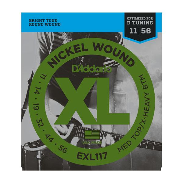 EXL117 XL MEDIUM TOP / X-HEAVY BOTTOM (11-56) / Струны Для электро гитар, Музыкальный Мастер