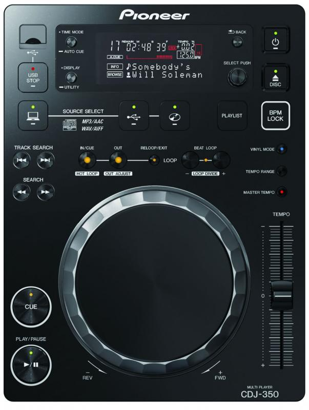 CDJ-350 / Проигрыватели CD/MP3/DVD, Музыкальный Мастер