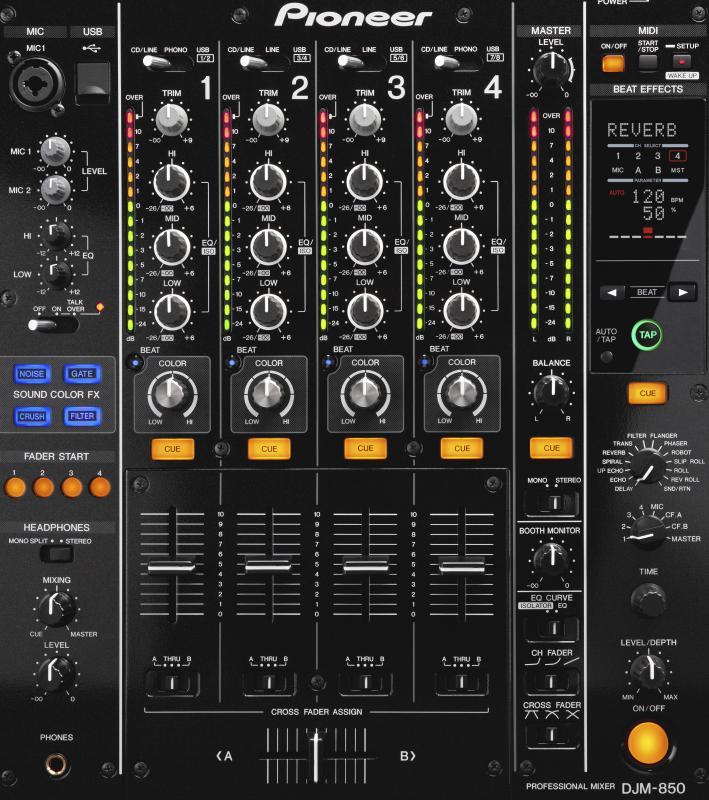 DJM-850 / DJ микшеры, Музыкальный Мастер