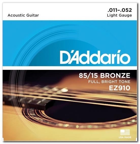 EZ910 BRONZE LIGHT 11-52 / Струны Для акустических гитар, Музыкальный Мастер