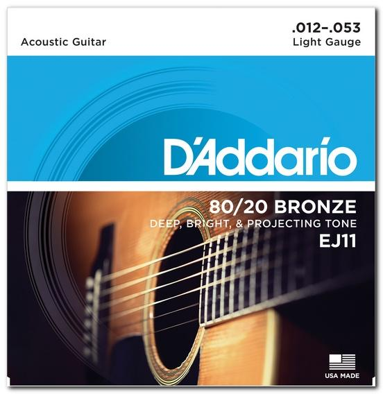 EJ11 80/20 BRONZE LIGHT 12-53 / Струны Для акустических гитар, Музыкальный Мастер