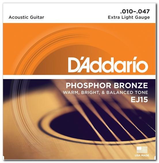 EJ15 PHOSPHOR BRONZE EXTRA LIGHT 10-47 / Струны Для акустических гитар, Музыкальный Мастер