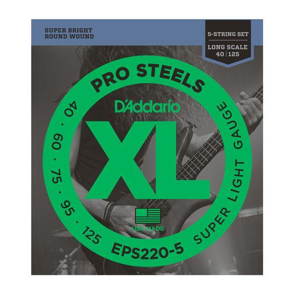 EPS220-5 XL PRO STEELS SUPER LIGHT 5 STRING 40-125 / Струны Для бас гитар, Музыкальный Мастер