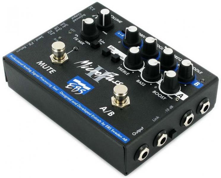 EBS  MicroBassII двухканальный басовый преамп/директ-бокс