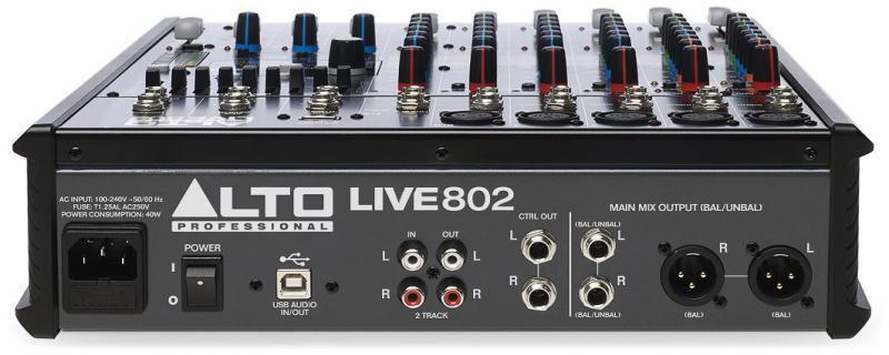 LIVE802 / Аналоговые микшерные пульты, Музыкальный Мастер