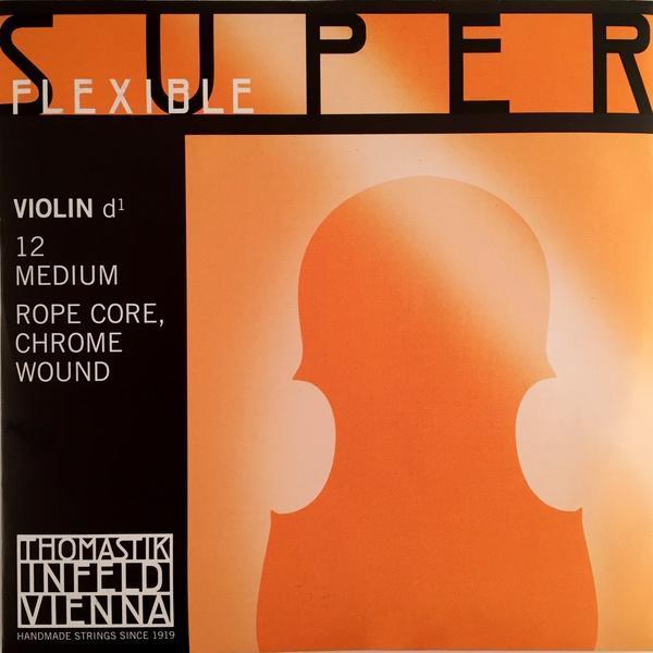 12 Superflexible Violin D (голубой) / Струны для смычковых, Музыкальный Мастер