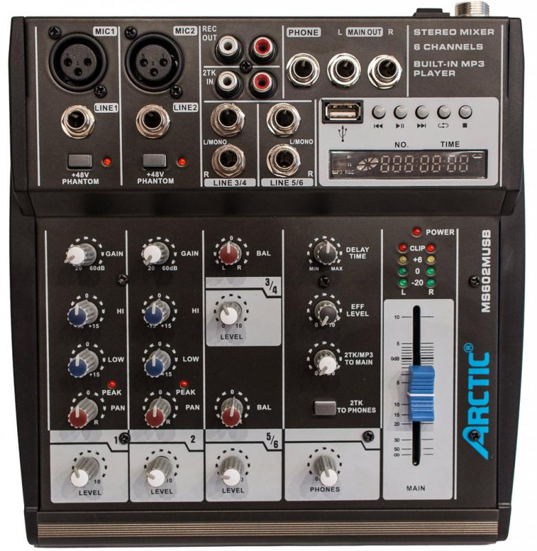 MS602M USB / Аналоговые микшерные пульты, Музыкальный Мастер
