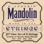 J67 MANDOLIN NICKEL MEDIUM 11-39 / Струны Для других инструментов, Музыкальный Мастер