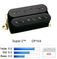 DP104FBK SUPER 2 (F-SPACED) / Звукосниматели, Музыкальный Мастер