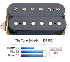 DP155FBK THE TONE ZONE (F-SPACED) / Звукосниматели, Музыкальный Мастер