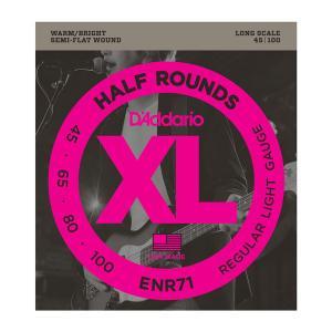 ENR71 XL NICKEL HALF ROUNDS BASS 45-100 / Струны Для бас гитар, Музыкальный Мастер