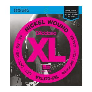 EXL170-5SL XL REGULAR LIGHT 5 STRING 45-130 / Струны Для бас гитар, Музыкальный Мастер