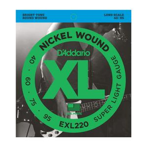 EXL220 XL SUPER LIGHT 40-95 / Струны Для бас гитар, Музыкальный Мастер