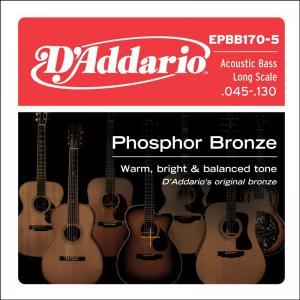 EPBB170-5 ACOUSTIC BASS PHOSPHOR BRONZE 5 STRING / Струны Для бас гитар, Музыкальный Мастер