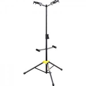 GS422B Plus двойная  стойка для акустической гитары с автозахватом / Гитарные стойки, Музыкальный Мастер