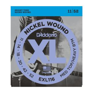 EXL116 XL MEDIUM TOP / HEAVY BOTTOM (11-52) / Струны Для электро гитар, Музыкальный Мастер