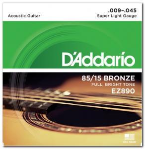 EZ890 BRONZE SUPER LIGHT 9-45 / Струны Для акустических гитар, Музыкальный Мастер