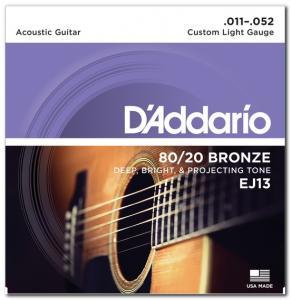 EJ13 80/20 BRONZE CUSTOM LIGHT 11-52 / Струны Для акустических гитар, Музыкальный Мастер