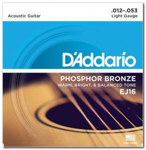 EJ16 PHOSPHOR BRONZE LIGHT 12-53 / Струны Для акустических гитар, Музыкальный Мастер