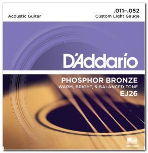 EJ26 PHOSPHOR BRONZE CUSTOM LIGHT 11-52 / Струны Для акустических гитар, Музыкальный Мастер