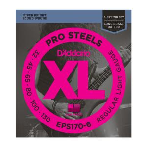 EPS170-6 PRO STEELS LIGHT 6 STRING 30-130 / Струны Для бас гитар, Музыкальный Мастер