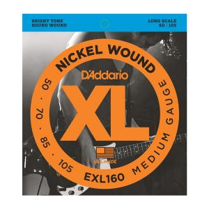 EXL160 XL MEDIUM 50-105 / Струны Для бас гитар, Музыкальный Мастер