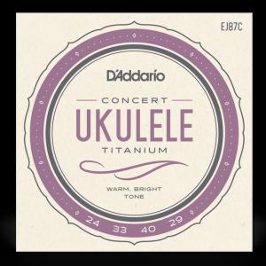 EJ87C TITANIUM UKULELE CONCERT / струны для укулеле, Музыкальный Мастер
