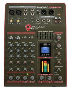 CELEUS 200 Микшерный пульт USB с памятью и Bluetooth / Аналоговые микшерные пульты, Музыкальный Мастер
